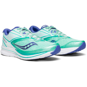 saucony Kinvara 9 Shoes Women Aqua/White